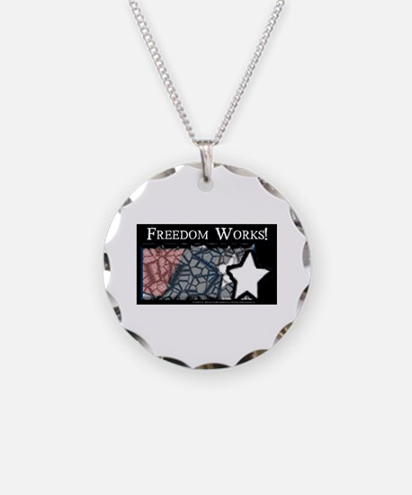 Freedom Works Flag Necklace