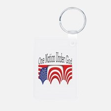 One Nation Under God Keychains