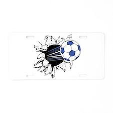 Soccer Breakthrough Aluminum License Plate