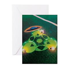 UFOs and Crop Circles Greeting Cards (Pk of 10)