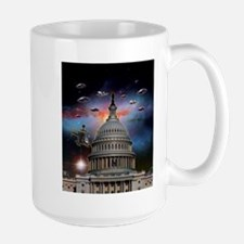 UFOs Over Wash. DC Large Mug