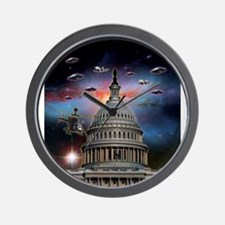 UFOs Over Wash. DC Wall Clock