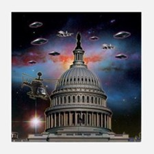 UFOs Over Wash. DC Tile Coaster