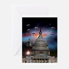 UFOs Over Wash. DC Greeting Card
