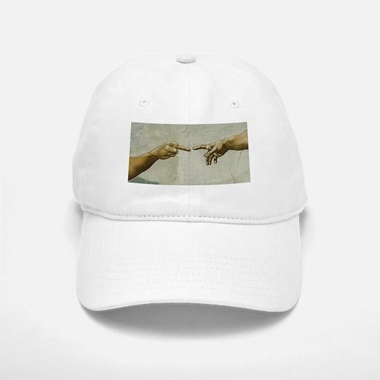 Man-Flips-Off-God Baseball Baseball Cap