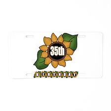 35th Birthday Aluminum License Plate