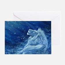 Star Lion Greeting Card
