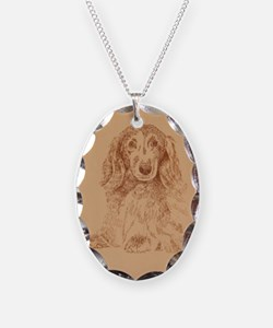 Longhaired Dachshund Necklace