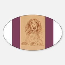 Longhaired Dachshund Decal