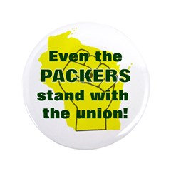 "Solidarity - Union - Recall W 3.5"" Button (10"