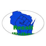 Solidarity - Union - Recall W Sticker (Oval 10 pk)