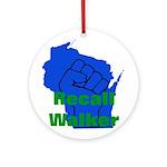 Solidarity - Union - Recall W Ornament (Round)