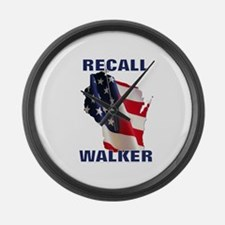 Solidarity - Union - Recall W Large Wall Clock