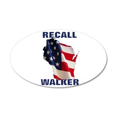 Solidarity - Union - Recall W 22x14 Oval Wall Peel