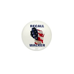 Solidarity - Union - Recall W Mini Button (10 pack
