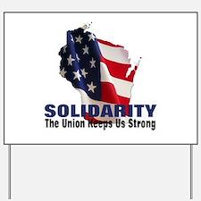 Solidarity - Union - Recall W Yard Sign