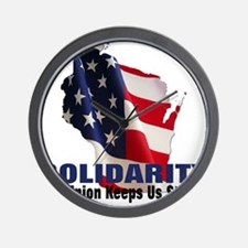 Solidarity - Union - Recall W Wall Clock