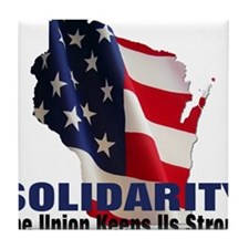 Solidarity - Union - Recall W Tile Coaster