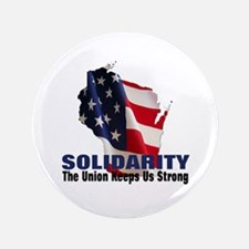 "Solidarity - Union - Recall W 3.5"" Button"