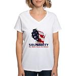 Solidarity - Union - Recall W Women's V-Neck T-Shi