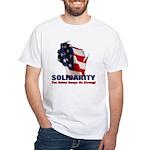 Solidarity - Union - Recall W White T-Shirt