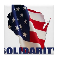 Solidarity - Union - Recall W Tile Coaster