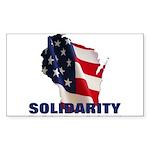 Solidarity - Union - Recall W Sticker (Rectangle 1