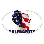 Solidarity - Union - Recall W Sticker (Oval)