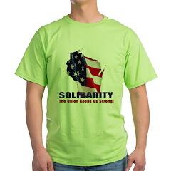 Solidarity - Union - Recall W Green T-Shirt