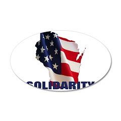 Solidarity - Union - Recall W 22x14 Oval Wall Peel