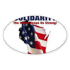Solidarity - Union - Recall W Sticker (Oval 50 pk)