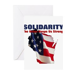 Solidarity - Union - Recall W Greeting Cards (Pk o