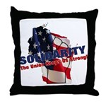 Solidarity - Union - Recall W Throw Pillow