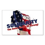 Solidarity - Union - Recall W Sticker (Rectangle 1