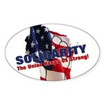 Solidarity - Union - Recall W Sticker (Oval 50 pk)