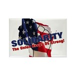 Solidarity - Union - Recall W Rectangle Magnet (10