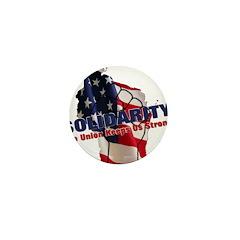 Solidarity - Union - Recall W Mini Button (100 pac