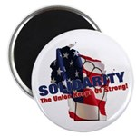 "Solidarity - Union - Recall W 2.25"" Magnet (1"