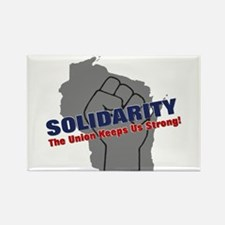 Solidarity - Union - Recall W Rectangle Magnet