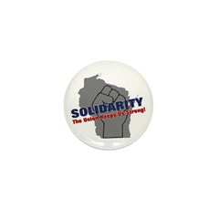 Solidarity - Union - Recall W Mini Button (100 pac