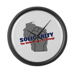 Solidarity - Union - Recall W Large Wall Clock