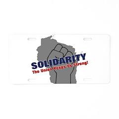 Solidarity - Union - Recall W Aluminum License Pla