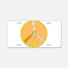PEACE in ARMS Aluminum License Plate