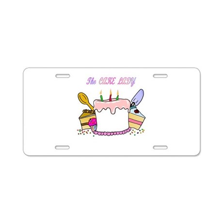 The Cake lady Aluminum License Plate