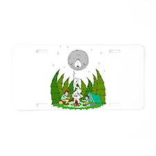 Camping FUN Aluminum License Plate