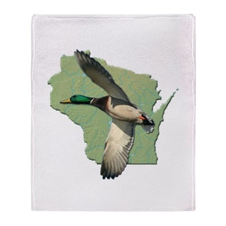 Wisconsin Duck Throw Blanket