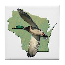 Wisconsin Duck Tile Coaster