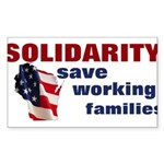 Solidarity - Union - Recall W Sticker (Rectangle)
