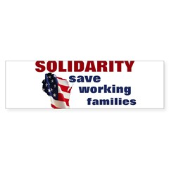 Solidarity - Union - Recall W Bumper Sticker