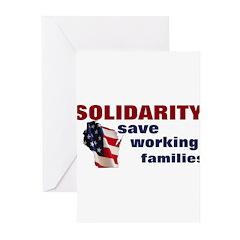 Solidarity - Union - Recall W Greeting Cards (Pk o